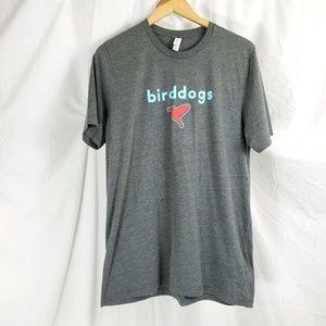 Birddog Mens XL T-shirt Gray Gymshorts For Guys